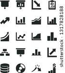 solid black vector icon set  ... | Shutterstock .eps vector #1317828188