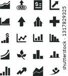 solid black vector icon set  ... | Shutterstock .eps vector #1317829325