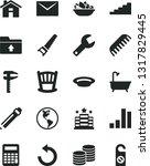 solid black vector icon set  ... | Shutterstock .eps vector #1317829445