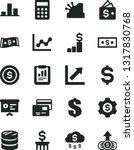 solid black vector icon set  ... | Shutterstock .eps vector #1317830768