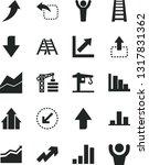solid black vector icon set  ... | Shutterstock .eps vector #1317831362