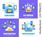 cloud service. file transfer... | Shutterstock .eps vector #1317836192