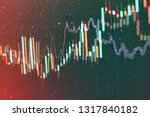 technical price graph and... | Shutterstock . vector #1317840182