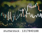 technical price graph and... | Shutterstock . vector #1317840188