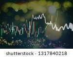graph with diagrams on the... | Shutterstock . vector #1317840218