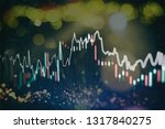 technical price graph and... | Shutterstock . vector #1317840275