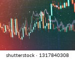 technical price graph and... | Shutterstock . vector #1317840308
