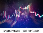 technical price graph and... | Shutterstock . vector #1317840335