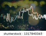 technical price graph and... | Shutterstock . vector #1317840365