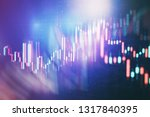 technical price graph and... | Shutterstock . vector #1317840395