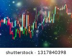 technical price graph and... | Shutterstock . vector #1317840398
