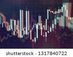 technical price graph and... | Shutterstock . vector #1317840722