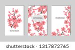 set of cards  congratulation ... | Shutterstock .eps vector #1317872765