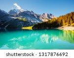 idyllic view of the azure lake... | Shutterstock . vector #1317876692