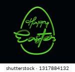 happy easter calligraphic 3d... | Shutterstock .eps vector #1317884132
