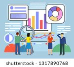 business graph  diagrams... | Shutterstock .eps vector #1317890768