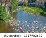 scenery around vals les bains ... | Shutterstock . vector #1317902672