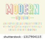 vector of stylish trendy 3d... | Shutterstock .eps vector #1317904115