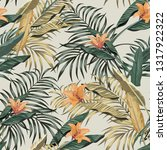 tropical seamless realistic... | Shutterstock .eps vector #1317922322