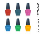 nail polish flat icon.you can... | Shutterstock .eps vector #1317940448