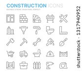 collection of construction... | Shutterstock .eps vector #1317940952