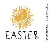 easter card design. hand drawn... | Shutterstock .eps vector #1317942272