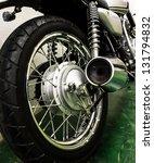 vintage motorcycle detail | Shutterstock . vector #131794832