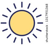 sunny day vector icon which... | Shutterstock .eps vector #1317951368