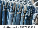 many models of jeans from... | Shutterstock . vector #1317951515