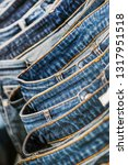 many models of jeans from... | Shutterstock . vector #1317951518