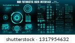 sci fi futuristic hud dashboard ... | Shutterstock .eps vector #1317954632