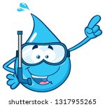 blue water drop cartoon...   Shutterstock . vector #1317955265