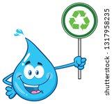 blue water drop cartoon...   Shutterstock . vector #1317958235