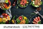 healthy food. assortment of the ...   Shutterstock . vector #1317977795