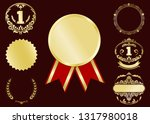 luxury gold badges and sports... | Shutterstock .eps vector #1317980018