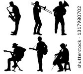 silhouettes street musicians... | Shutterstock .eps vector #1317980702