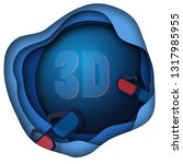 paper cut cinema decorations... | Shutterstock .eps vector #1317985955