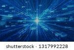 technology digital matrix and... | Shutterstock . vector #1317992228