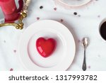 mousse dessert in the shape of... | Shutterstock . vector #1317993782