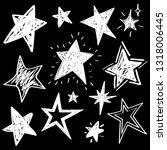 set of white hand drawn vector... | Shutterstock .eps vector #1318006445