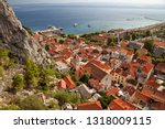 Small photo of Omis, Croatia - Adriatic Sea View from The Fortress Mirabella (Peovica)