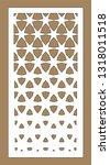 arabesque vector gradient panel.... | Shutterstock .eps vector #1318011518