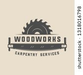 vintage carpentry  woodwork and ... | Shutterstock .eps vector #1318016798