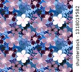 seamless pattern with flowers ... | Shutterstock .eps vector #1318019582