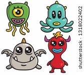 monster character colorful...   Shutterstock .eps vector #1318022402