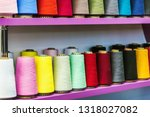 different color spools of... | Shutterstock . vector #1318027082