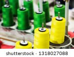 different color spools of... | Shutterstock . vector #1318027088