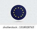 europe flag  vector... | Shutterstock .eps vector #1318028765