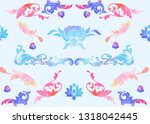 traditional chinese seamless... | Shutterstock .eps vector #1318042445
