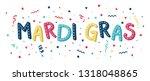 mardi gras festival banner with ... | Shutterstock .eps vector #1318048865